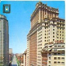 Postales: 7-ESP2134. POSTAL MADRID. EDIFICIO ESPAÑA Y CALLE PRINCESA. Lote 37344319