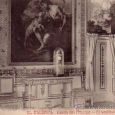 Postales: MONASTERIO DE EL ESCORIAL (MADRID) - CASITA DEL PRINCIPE - VESTIBULO - CASTAÑEIRA Y ALVAREZ. Lote 37763531