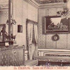 Postales: MONASTERIO DE EL ESCORIAL (MADRID) - CASITA DEL PRINCIPE - SALA AZUL - CASTAÑEIRA Y ALVAREZ. Lote 37763550