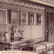 Postales: MONASTERIO DE EL ESCORIAL (MADRID) - CASITA PRINCIPE - SALA RETRATOS - CASTAÑEIRA Y ALVAREZ. Lote 37763656