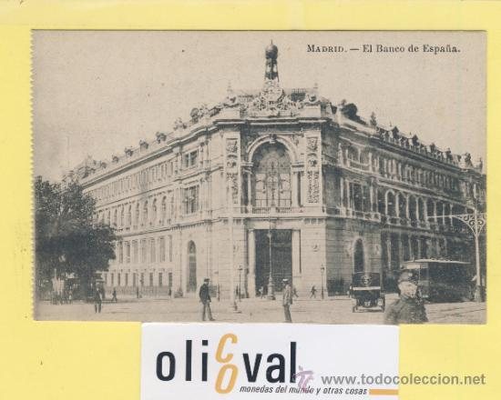 POSTAL-MADRID-EL BANCO DE ESPAÑA -TRANVIA-TAXI-GUARDIA - VESTUARIO- AÑOS 30-ED .J.ROIG -P-01994 segunda mano