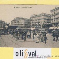 Postales: POSTAL-MADRID-PUERTA DEL SOL-ANUNCIO DE CINZANO-TRANVIA-CARROS VESTIMENTA-AÑOS 30-ED .J.ROIG-P-01998. Lote 37887338