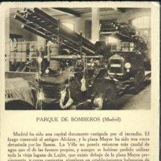 Postales: MADRID.- PARQUE DE BOMBEROS. Lote 37826630