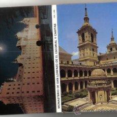 Postales: LIBRITO DESPLEGABLE DE 10 POSTALES DEL MONASTERIO DEL ESCORIAL- EDITORIAL PATRIMONIO NACIONAL.. Lote 37894027