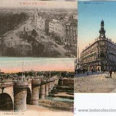 Postales: TRES POSTALES MADRID PUENTE TOLEDO. LA EQUITATIVA Y CALLE ALCALA 1913. Lote 38009352