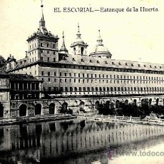 Postales: EL ESCORIAL, ESTANQUE DE LA HUERTA . Lote 38055710