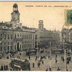 Postales: POSTAL MADRID PUERTA DEL SOL MINISTERIO DE LA GOBERNACION. Lote 38075197