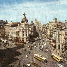 Postales: MADRID - CALLE DE ALCALA Y AVENIDA JOSE ANTONIO. Lote 38350151