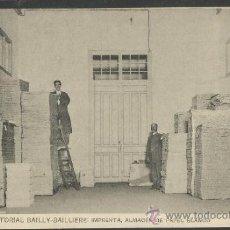 Postales: CASA EDITORIAL BAILLY - BALLIERE - 12 - IMPRENTA - (17.236). Lote 38371567