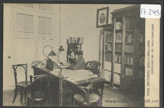 CASA EDITORIAL BAILLY - BALLIERE - 2 - DESPACHO - (17.243) (Postales - España - Comunidad de Madrid Antigua (hasta 1939))