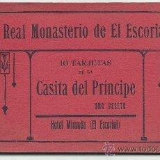 Postales: EL ESCORIAL.-10 POSTALES DE LA CASITA DEL PRINCIPE.-FOTOTIPIA CASTAÑEIRA,ALVAREZ Y LEVENFELD. Lote 38485428