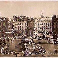 Postales: ANTIGUA POSTAL 108 MADRID PUERTA DEL SOL ZERKOWITZ ESCRITA 1957. Lote 38533332