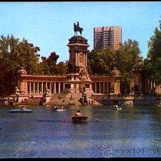 Postales: MADRID.- PARQUE DEL RETIRO. ESTANQUE Y MONUMENTO A ALFONSO XII.. Lote 38753636