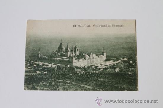 POSTAL. MONASTERIO DE EL ESCORIAL. VISTA GENERAL DEL MONASTERIO. HIJO DE NICOLÁS SERRANO. 1927. (Postales - España - Madrid Moderna (desde 1940))