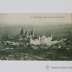 Postales: POSTAL. MONASTERIO DE EL ESCORIAL. VISTA GENERAL DEL MONASTERIO. HIJO DE NICOLÁS SERRANO. 1927.. Lote 38921545