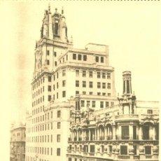 Postales: MADRID. PALACIO DE LA TELEFÓNICA. POSTAL MARRÓN, SIN CIRCULAR, C. 1940 (?). . Lote 39026349