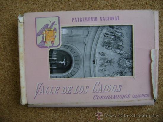 BLOQUE 9 POSTALES VALLE DE LOS CAÍDOS (CUELGAMUROS), DE PATRIMONIO NACIONAL. TIPO ACORDEÓN, B/N 1961 (Postales - España - Madrid Moderna (desde 1940))