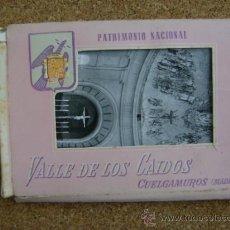Postales: BLOQUE 9 POSTALES VALLE DE LOS CAÍDOS (CUELGAMUROS), DE PATRIMONIO NACIONAL. TIPO ACORDEÓN, B/N 1961. Lote 39083425