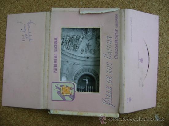 Postales: Bloque 9 postales Valle de los Caídos (Cuelgamuros), de Patrimonio Nacional. Tipo acordeón, b/n 1961 - Foto 2 - 39083425