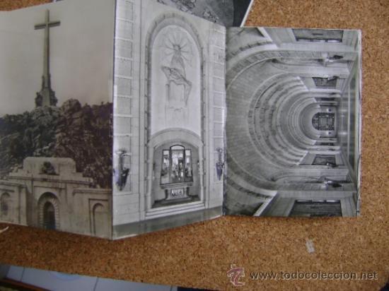 Postales: Bloque 9 postales Valle de los Caídos (Cuelgamuros), de Patrimonio Nacional. Tipo acordeón, b/n 1961 - Foto 4 - 39083425