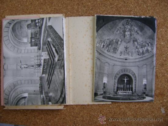 Postales: Bloque 9 postales Valle de los Caídos (Cuelgamuros), de Patrimonio Nacional. Tipo acordeón, b/n 1961 - Foto 5 - 39083425
