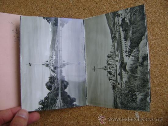 Postales: Bloque 9 postales Valle de los Caídos (Cuelgamuros), de Patrimonio Nacional. Tipo acordeón, b/n 1961 - Foto 6 - 39083425