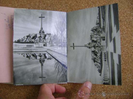 Postales: Bloque 9 postales Valle de los Caídos (Cuelgamuros), de Patrimonio Nacional. Tipo acordeón, b/n 1961 - Foto 7 - 39083425
