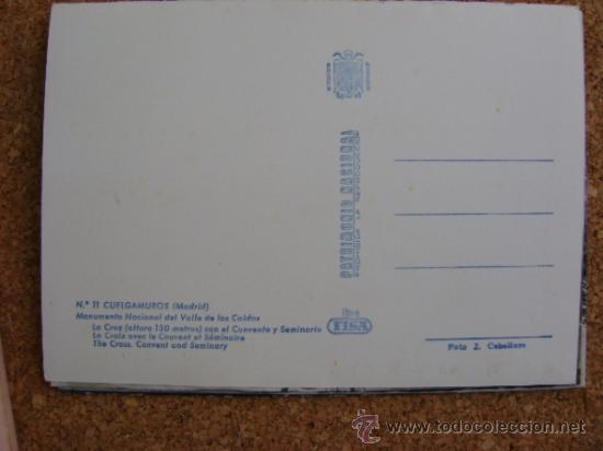 Postales: Bloque 9 postales Valle de los Caídos (Cuelgamuros), de Patrimonio Nacional. Tipo acordeón, b/n 1961 - Foto 8 - 39083425