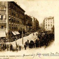 Postales: MADRID. LA PROCESIÓN DEL VIERNES SANTO. Lote 39105928