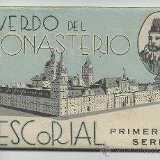 Postales: EL ESCORIAL.-RECUERDO DEL MONASTERIO PRIMERA SERIE HAE. Lote 39213958