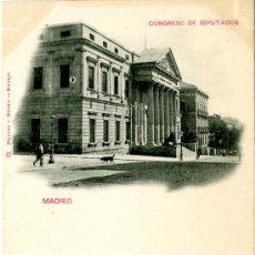 Cartes Postales: MADRID. CONGRESO DE LOS DIPUTADOS. 21 HAUSER Y MENET. Lote 39215052
