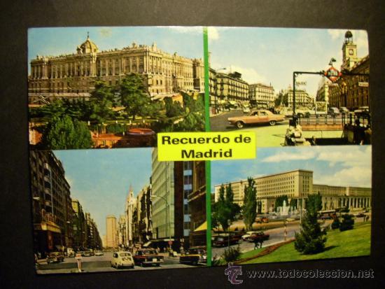 3092 ESPAÑA SPAIN MADRID RECUERDO POSTCARD POSTAL AÑOS 60 CIRCULADA - TENGO MAS POSTALES (Postales - España - Madrid Moderna (desde 1940))