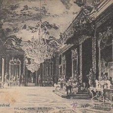 Postales: MADRID, PALACIO REAL, SALÓN DEL TRONO, EDITOR: LACOSTE Nº 65. Lote 39264342