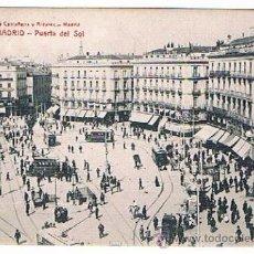 Postales: POSTAL 398 MADRID - PUERTA DEL SOL FOTOTIPIA CASTAÑEIRA Y ALVAREZ. Lote 39888727