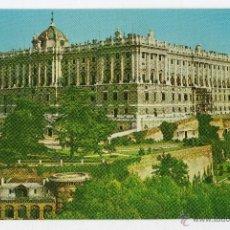 Postales: MADRID. PALACIO REAL. JARDINES. FRANQUEADA EL 2 DE OCTUBRE DE 1965.. Lote 39429325