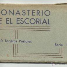 Postales: MONASTERIO DEL ESCORIAL.-10 POSTALES.- SERIE 1 HUECOGRABADO HAUSER Y MENET. Lote 39670746