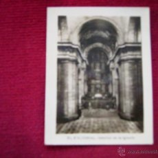Postales: POSTAL FOTOGRAFICA DE EL ESCORIAL-INTERIOR DE LA IGLESIA-9 X 7 CM.. Lote 39695915