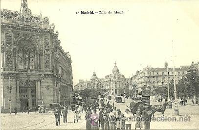 MADRID CALLE DE ALCALA POSTAL 9 X 13 CTMS, (Postales - España - Comunidad de Madrid Antigua (hasta 1939))