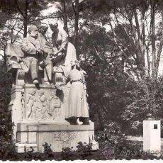 Postales: MADRID - PARQUE DEL RETIRO. MONUMENTO A CAMPOAMOR (1959). Lote 21487810