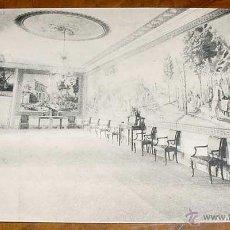 Postales: ANTIGUA POSTAL SAN LORENZO DE EL ESCORIAL - REAL PALACIO, COMEDOR DEL REY. EDICION TOMAS MORA - THO. Lote 39523636