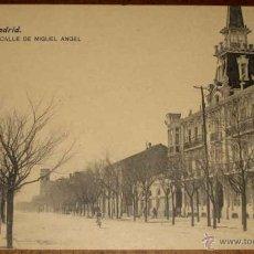 Postales: ANTIGUA POSTAL MADRID - N. 44 - CALLE DE MIGUEL ANGEL - ED. LACOSTE - NO CIRCULADA.. Lote 39543632