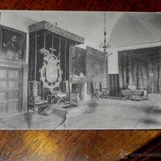 Postales: ANTIGUA POSTAL - MADRID - SAN LORENZO DEL ESCORIAL - PALACIO REAL - HABITACIONES DE FELIPE II - SALO. Lote 39605412