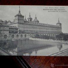 Postales: ANTIGUA POSTAL - MADRID - SAN LORENZO DEL ESCORIAL - MONASTERIO DEL ESCORIAL - ESTANQUE DE LA HUERTA. Lote 39605438