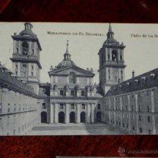 Postales: ANTIGUA POSTAL - MADRID - SAN LORENZO DEL ESCORIAL - MONASTERIO DEL ESCORIAL - PATIO DE LOS REYES - . Lote 39605455