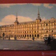 Postales: MADRID - PLAZA MAYOR - CUANDO ERA TRANSITABLE CON VEHÍCULOS - . Lote 40335783