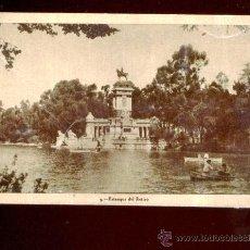 Postales: MADRID - ESTANQUE DEL RETIRO (CIRCULADA EN 1947). Lote 40335805