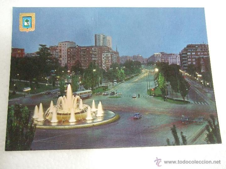 POSTAL MADRID - PLAZA SAN JUAN DE LA CRUZ - PASEO DE LA CASTELLANA - 1964 - ESCRITA SIN CIRCULAR - (Postales - España - Madrid Moderna (desde 1940))