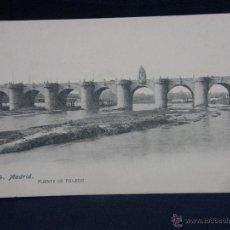 Postales: POSTAL SIN CIRCULAR ESPAÑA FOTOTIPIA LACOSTE 34 MADRID PUENTE DE TOLEDO SIN DIVIDIR. Lote 40370508
