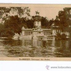 Postales: MADRID - ESTANQUE DEL RETIRO (CIRCULADA EN 1944). Lote 40410900
