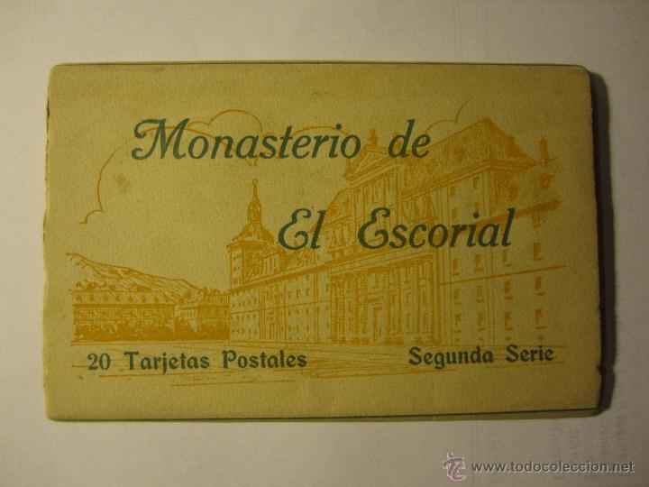 MONASTERIO DEL ESCORIAL ACORDEON 20 POSTALES HAUSER Y MENET SEGUNDA SERIE (Postales - España - Madrid Moderna (desde 1940))
